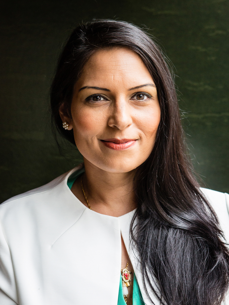 Priti Patel, Conservative Politician, new secretary of state for international development and MP for Witham photographed at Blue Boar restaurant, London in June 2016
